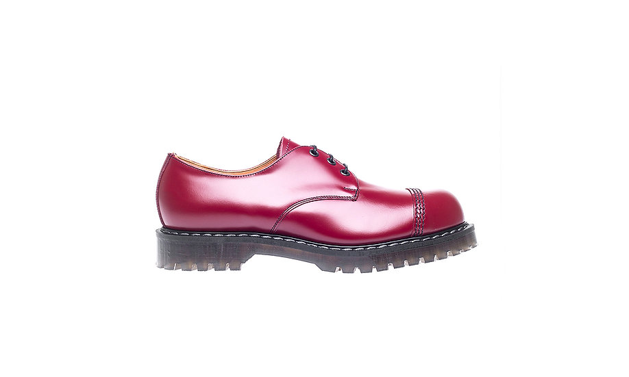 Solovair 3eye Gibson shoe STC Cherry Red