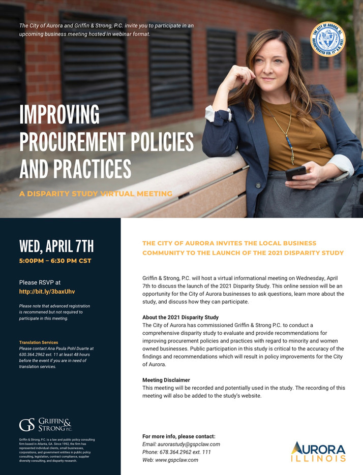 City of Aurora Moves To Improve Procurement Policies, Practices April 7th Virtual Event...