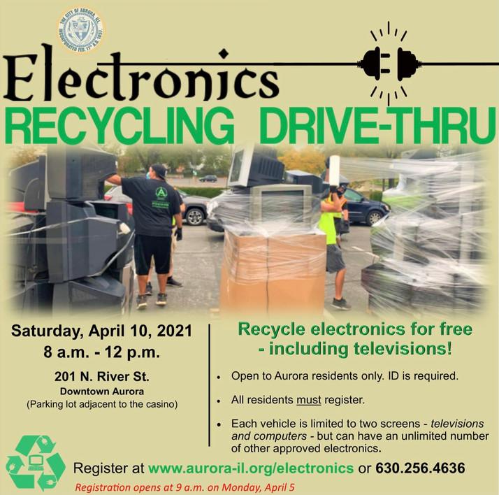 Electronics Recycling Drive-Thru In Aurora April 10th