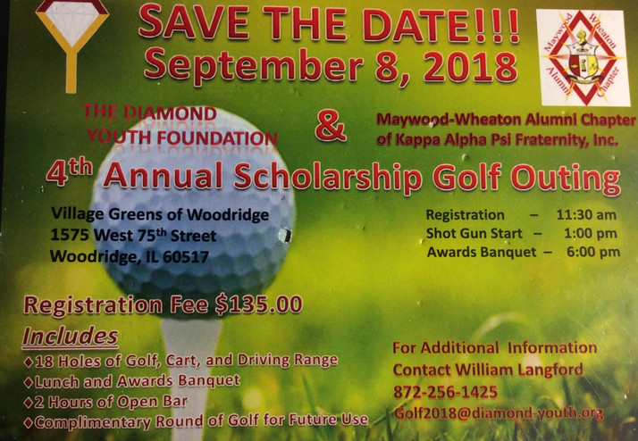 Kappa Alpha Psi's Annual Golf Outing September 8th in Woodridge, IL