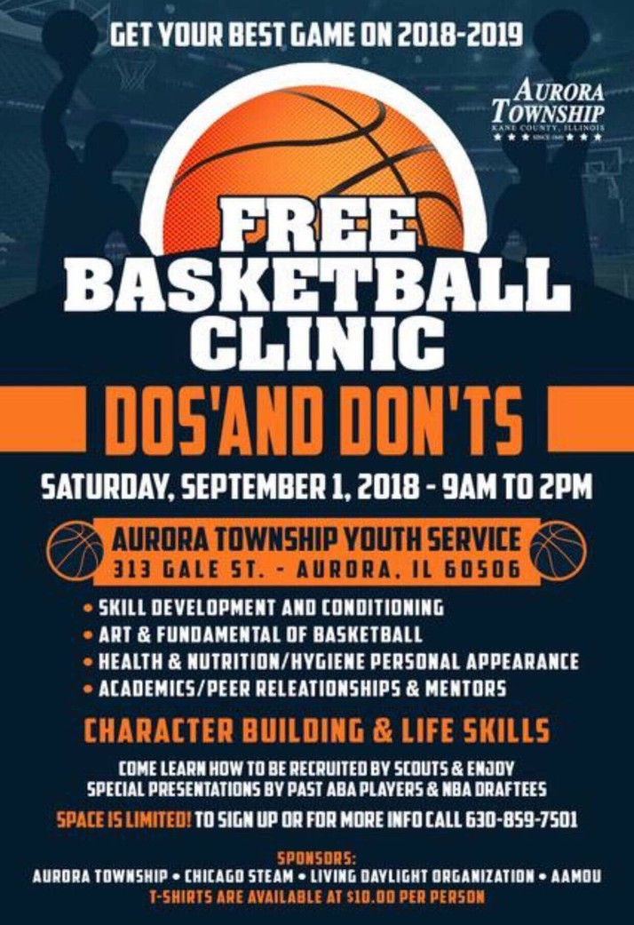 Free Basketball Clinic In Aurora, IL September 1st...