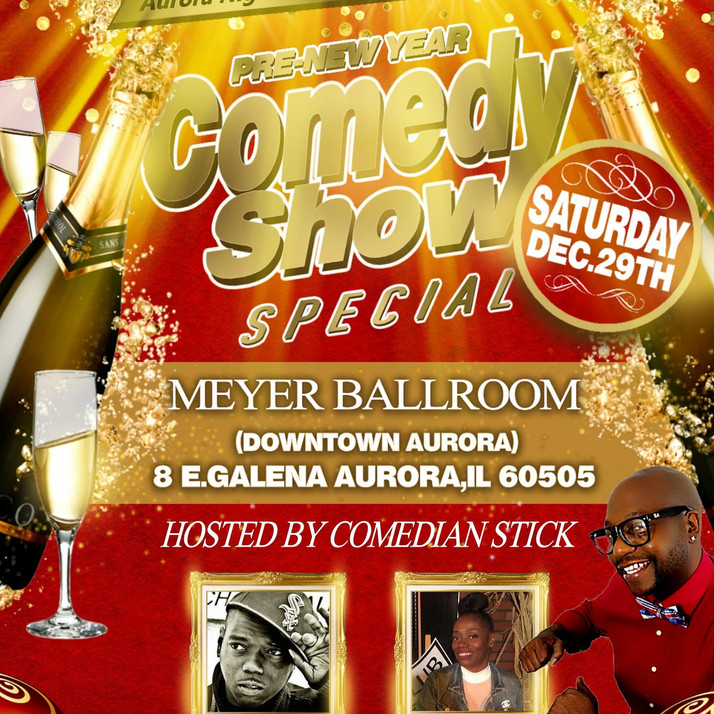 Pre-New Year Comedy Show Special On Tap For Dec. 29th in Downtown Aurora, IL