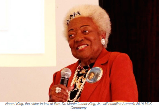 Relative of Dr. Martin Luther King To Headline Aurora's MLK Ceremony