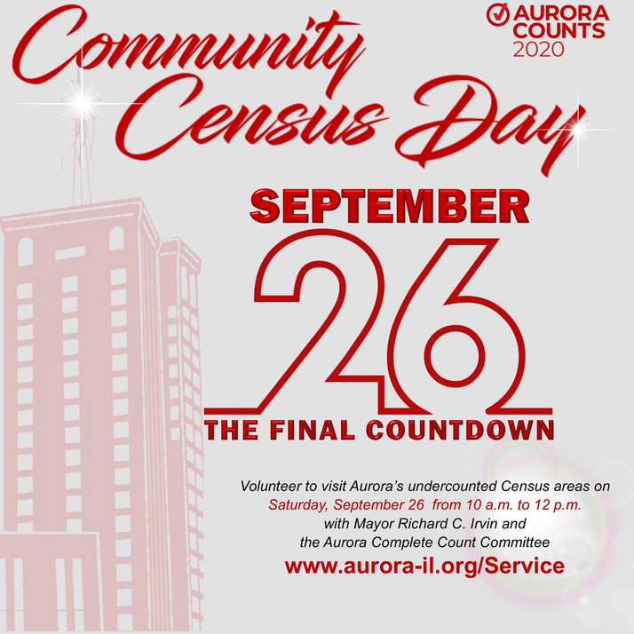 Aurora Counts 2020 Community Census Day On Tap for September 26th...Volunteers Are NEEDED!!!!
