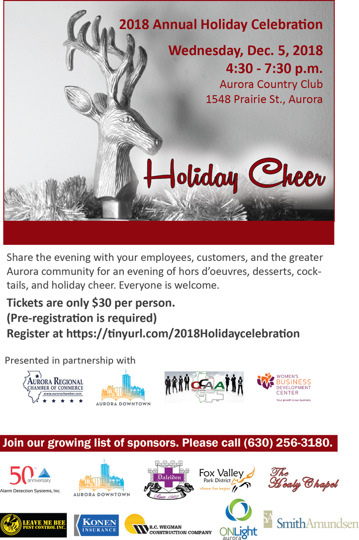 Business Holiday Celebration Dec. 5th At Aurora Country Club