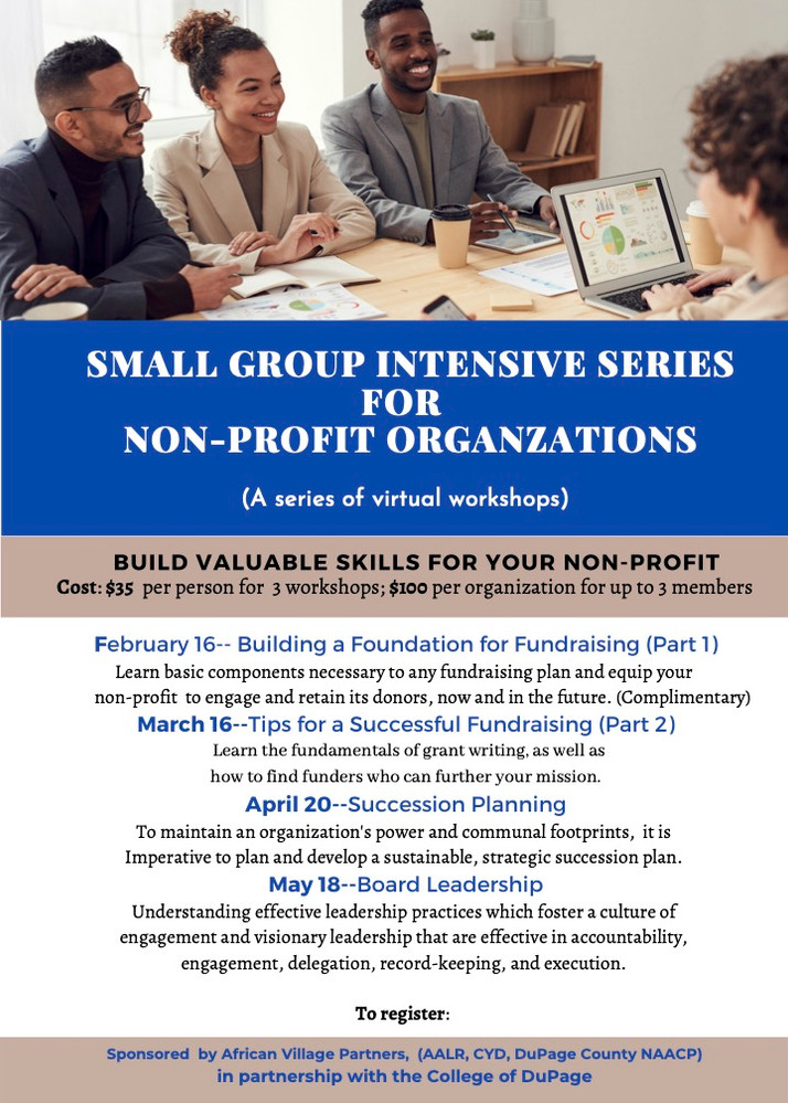 Virtual Workshop Series Scheduled For March, April, May