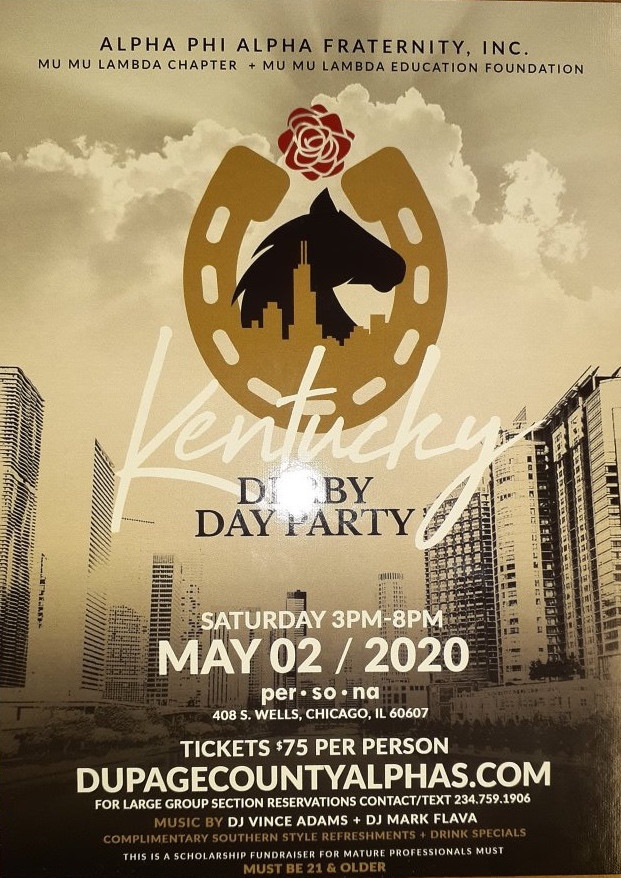 The Alpha's Are Throwing A Derby Party...Mark Your Calendar...Hopefully