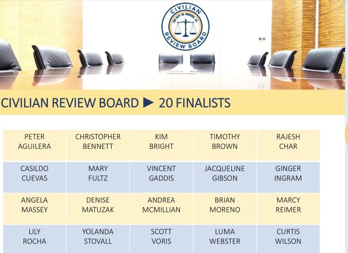 Aurora, IL Creates A Civilian Review Board; 20 Finalists Remain...