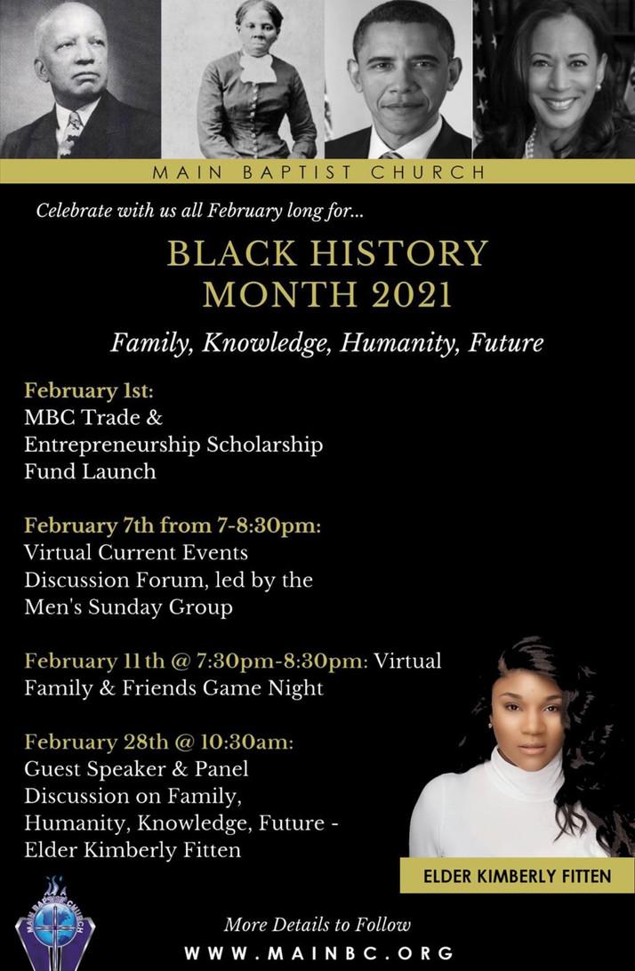 Main Baptist Church Celebrates Black History Month