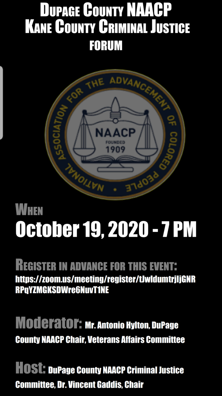 NAACP To Host Criminal Justice Forum October 19th