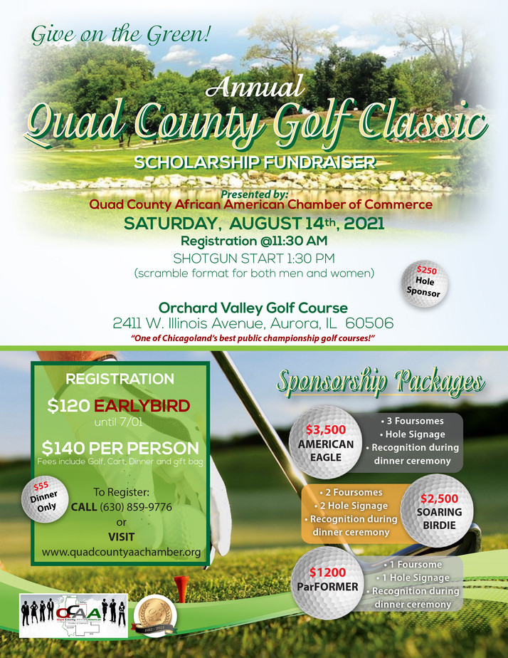 The Quad County Golf Classic Is Back August 14th At Orchard Valley In Aurora, IL