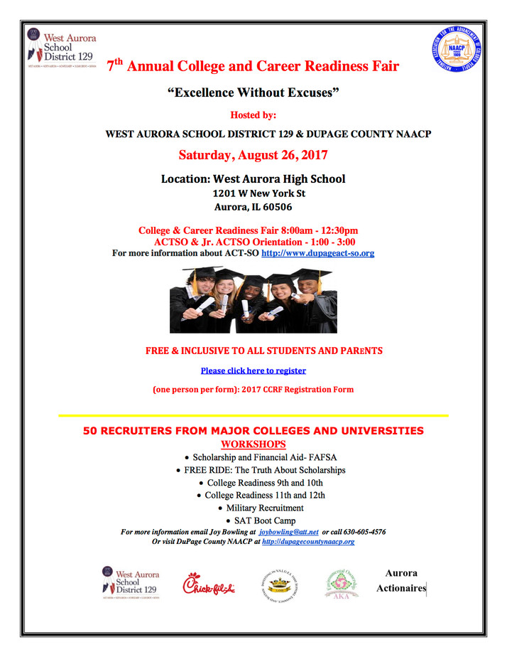 7th Annual College, Career Readiness Fair Planned for August 26th In Aurora, IL