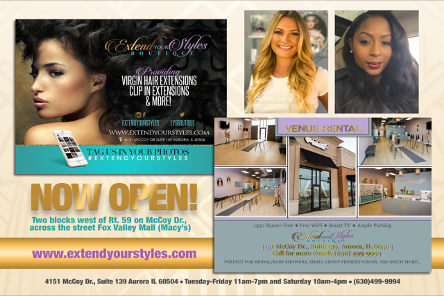 Extend Your Styles Boutique Celebrates First Year of Operation In Aurora, IL