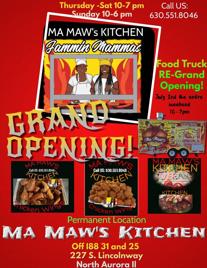 Permanent Location In North Aurora, IL Set For Ma Maw's Kitchen
