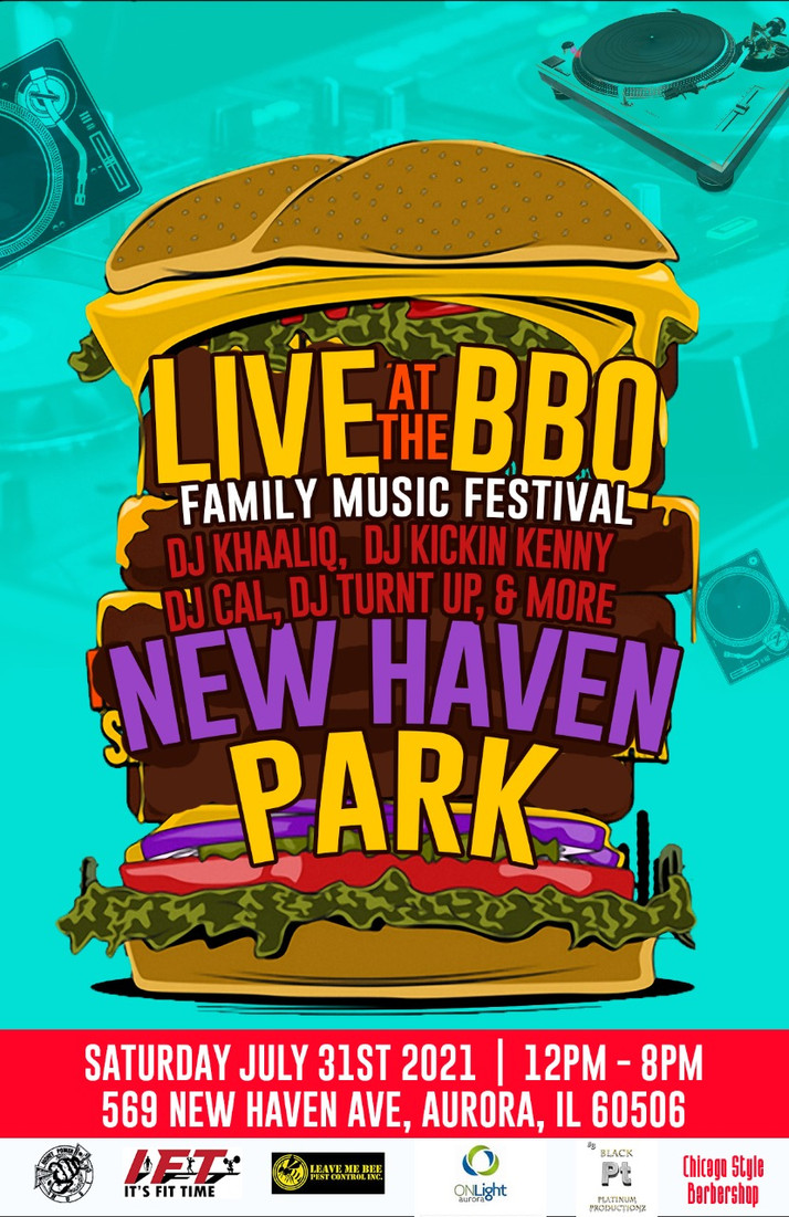 Live At BBQ Family Music Festival On Tap July 31st In Aurora, IL