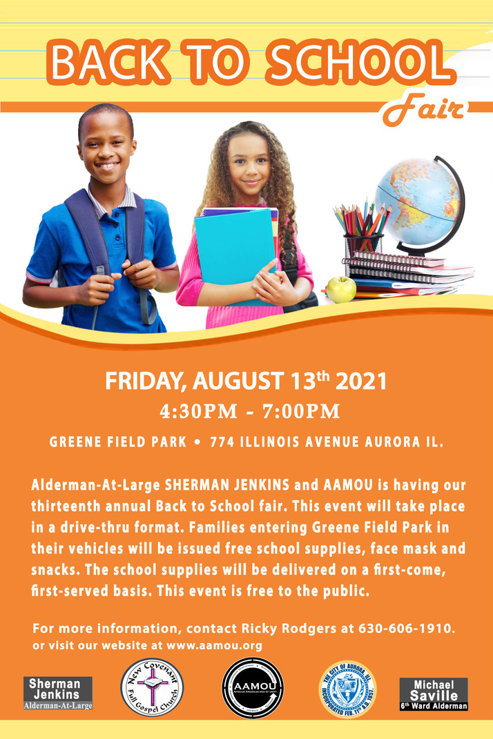 Alderman-at-Large Jenkins, AAMOU To Host Annual Back To School Fair August 13th