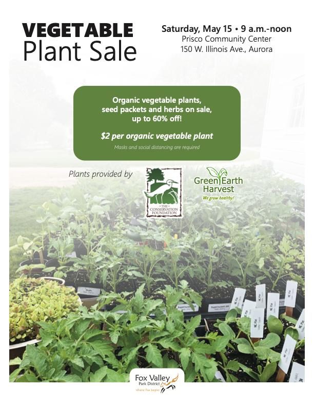 Vegetable Plant Sale May 15th At Prisco Community Center In Aurora, IL