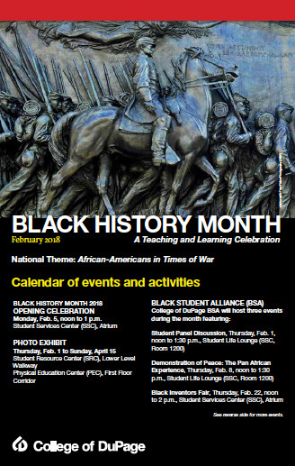 College of DuPage Black History Month Events, Activities On Tap For 2018