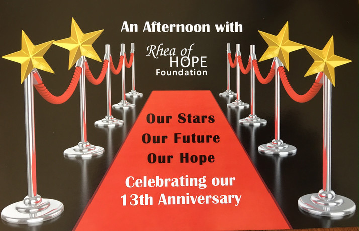 Rhea of Hope Foundation Celebrating Its 13th Anniversary Oct. 8th in Bolingbrook, IL