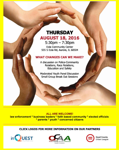 Area Organizations To Host Discussion on Police-Community, Race Relations