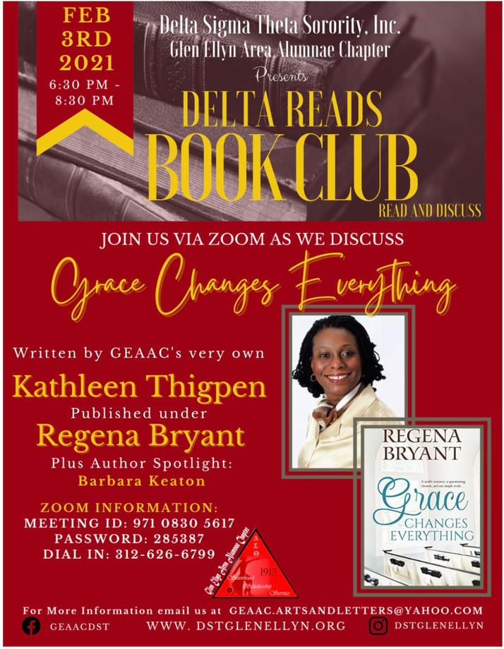 Delta Sigma Theta Sorority Presents 'Delta Reads Book Club' February 2021