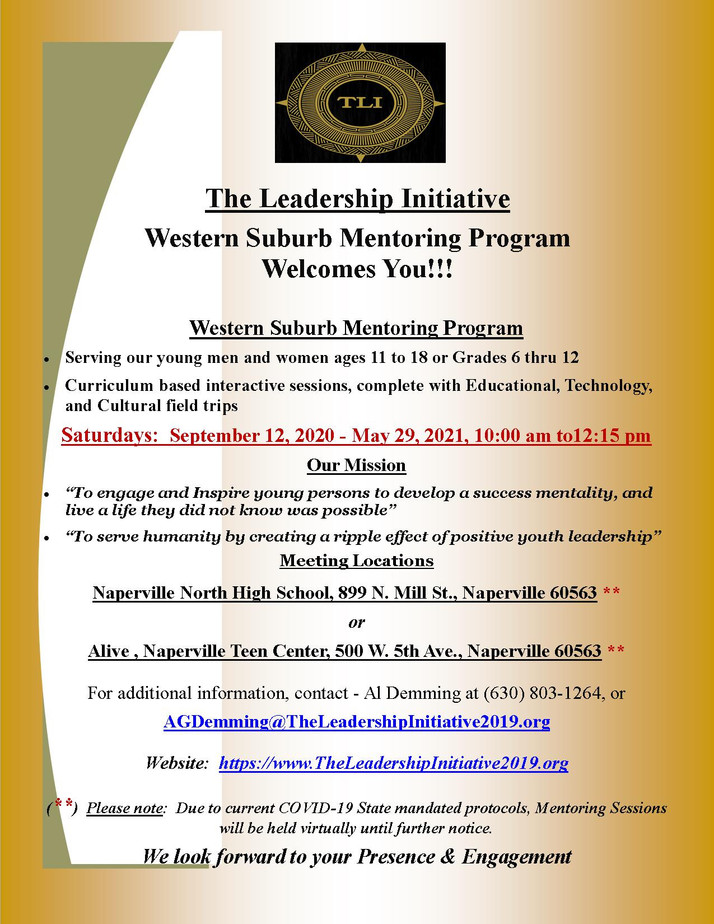 This Mentoring Program Serves Young Men, Women In The Western Suburbs...Check It Out!!!!