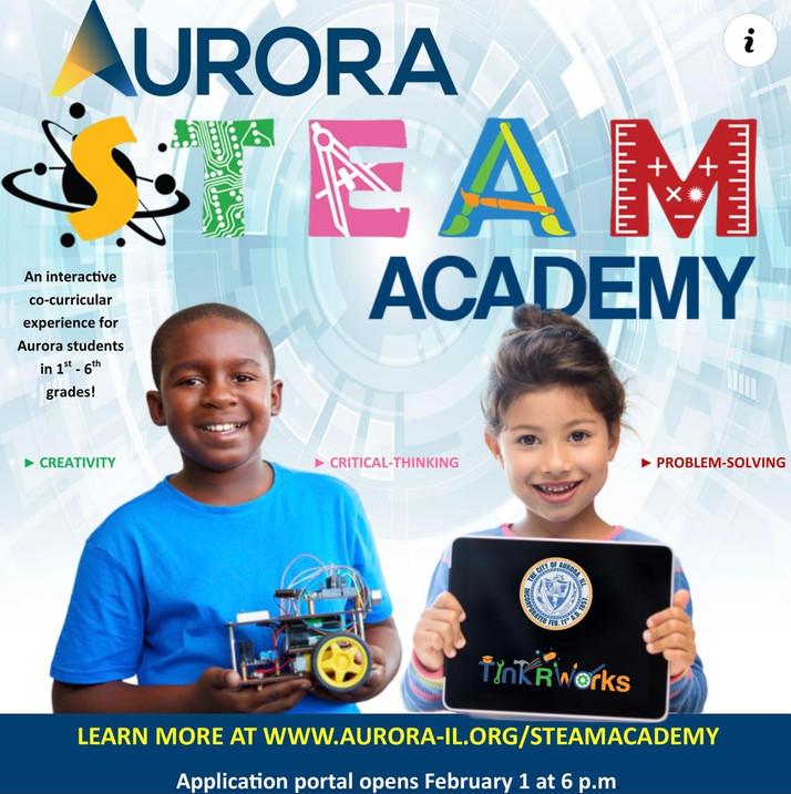 Aurora Steam Academy Now Open For Aurora Students...