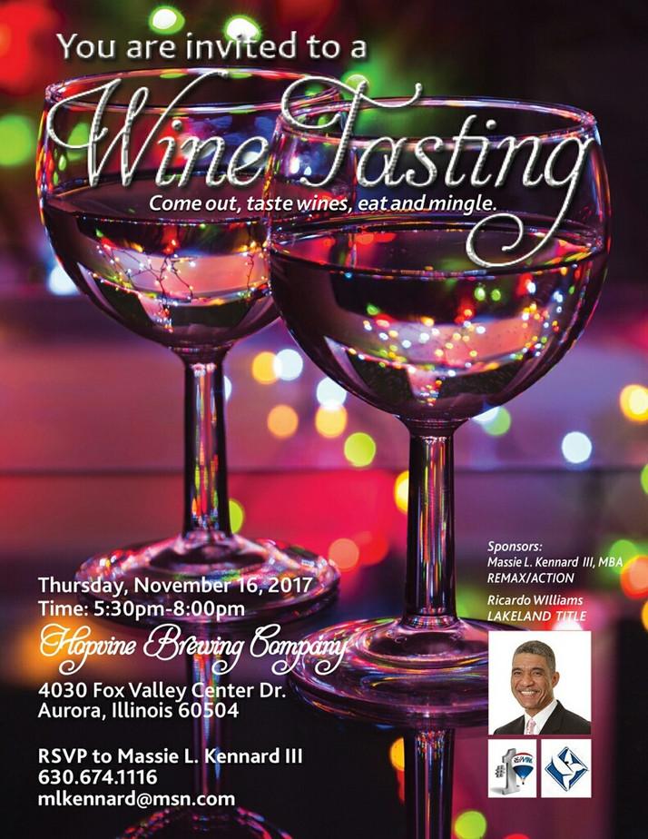 Wine Tasting Event At Aurora's Fox Valley Mall November 16th