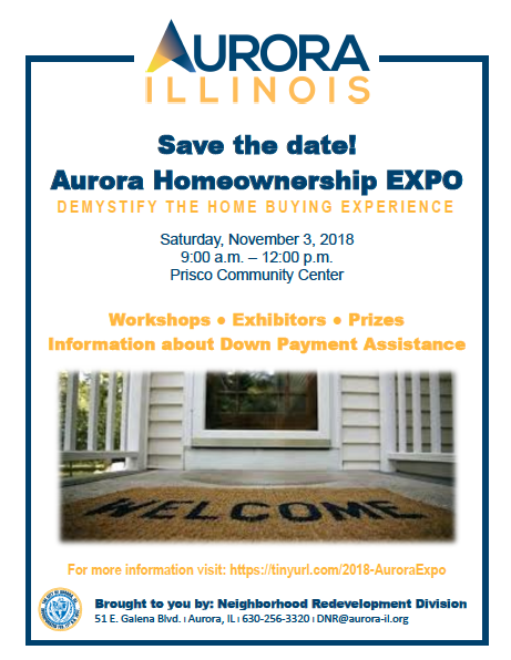 City of Aurora Homeownership Expo Scheduled for November 3rd...