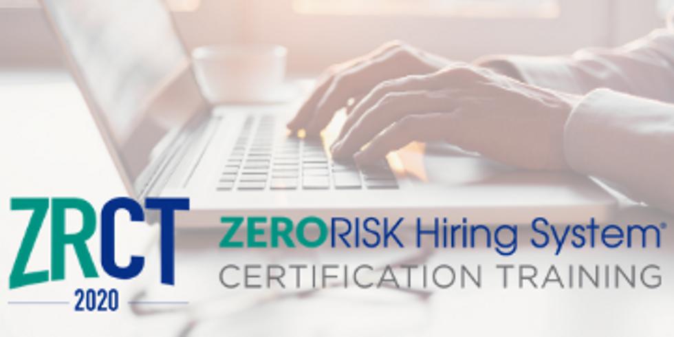 2020 ZERORISK Certification Training: November Virtual Series
