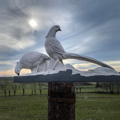 ART DECO - Pheasant Couple