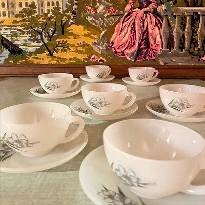 "Arcopal coffee set ""Iris"""