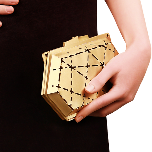 Fractal Clutch by White sur White for Tony Ward