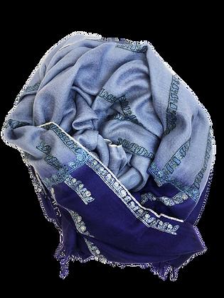 Minimal Embroidery Tie & Dye – Light Blue