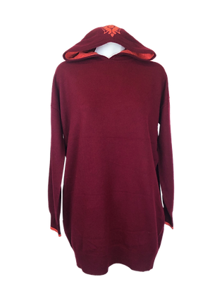Cashmere Lounge Hoodie & Dress – Buddha Red