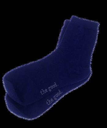 Cashmere Lounge Adult Socks – Navy Blue