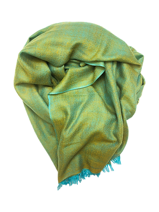 Double Weave – Turquoise Mustard