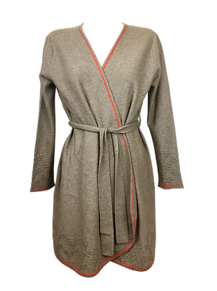 Cashmere Lounge Cardigan & Wrap dress – Natural Beige