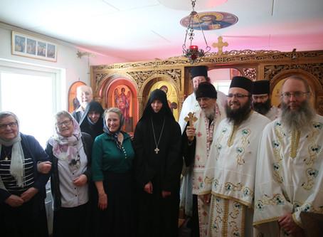Pastoralt besök av Metropolit Kyprianos,  januari 2016