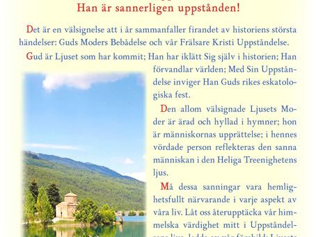 Påskhälsningar från Metropolit Kyprianos