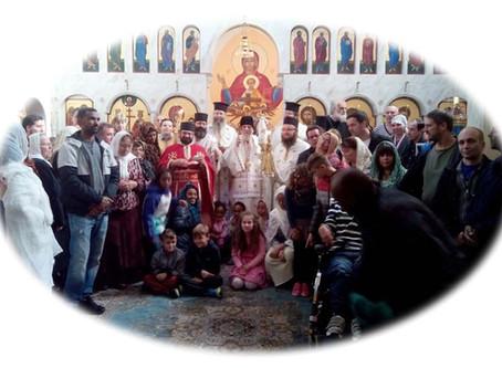 Det andra pastorala besöket  i det nyligen grundade  Stockholms Ortodoxa stift