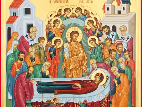 Festmeddelande för Theotokos avsomnandes högtid