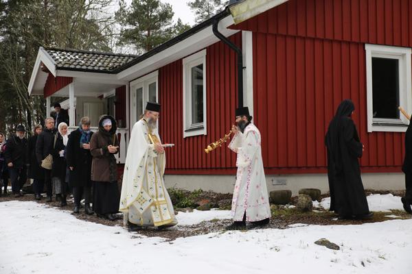 Procession runt klostret