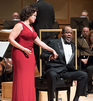 Marlissa Hudson portrays Bess alongside Kevin Deas' Porgy and the National Philharmonic's producton of Porgy and Bess.
