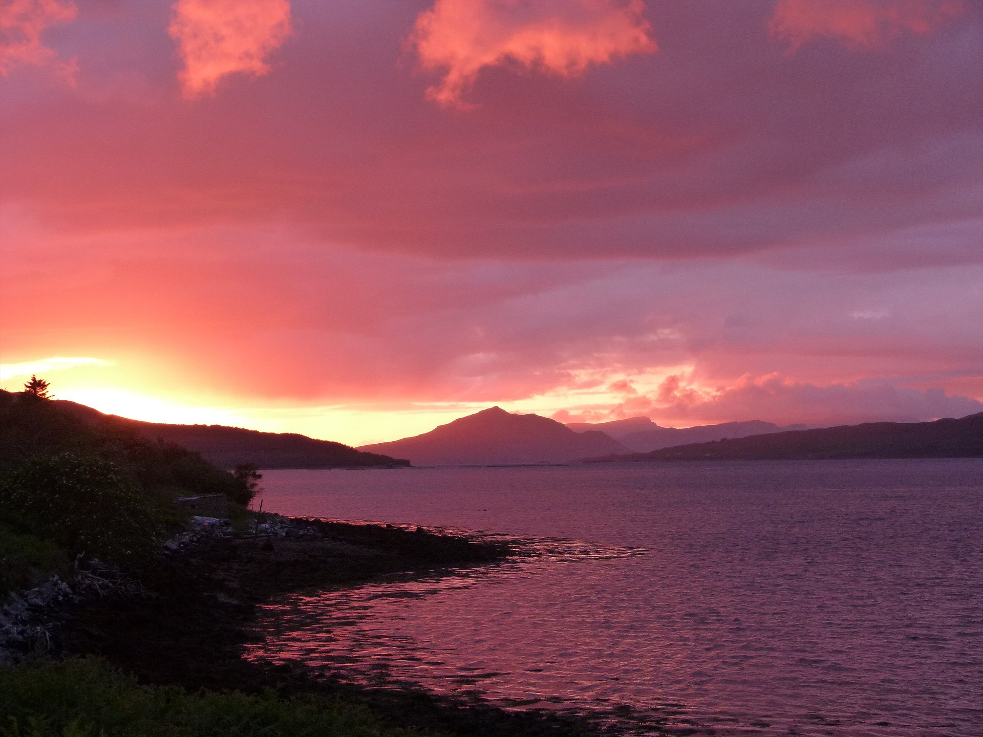 Sunset over Ben Tianavaig