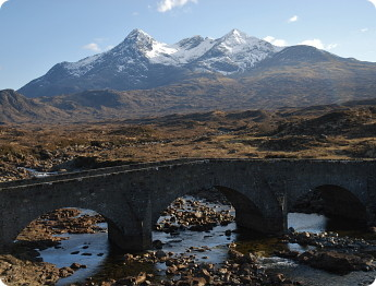 Cuillins from Sligachan bridge