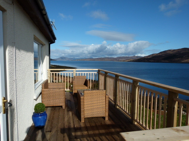 Decking looking at Raasay