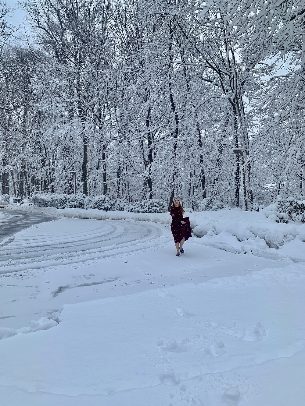 All Dressed Blog - Amy Stein-Milford in snow
