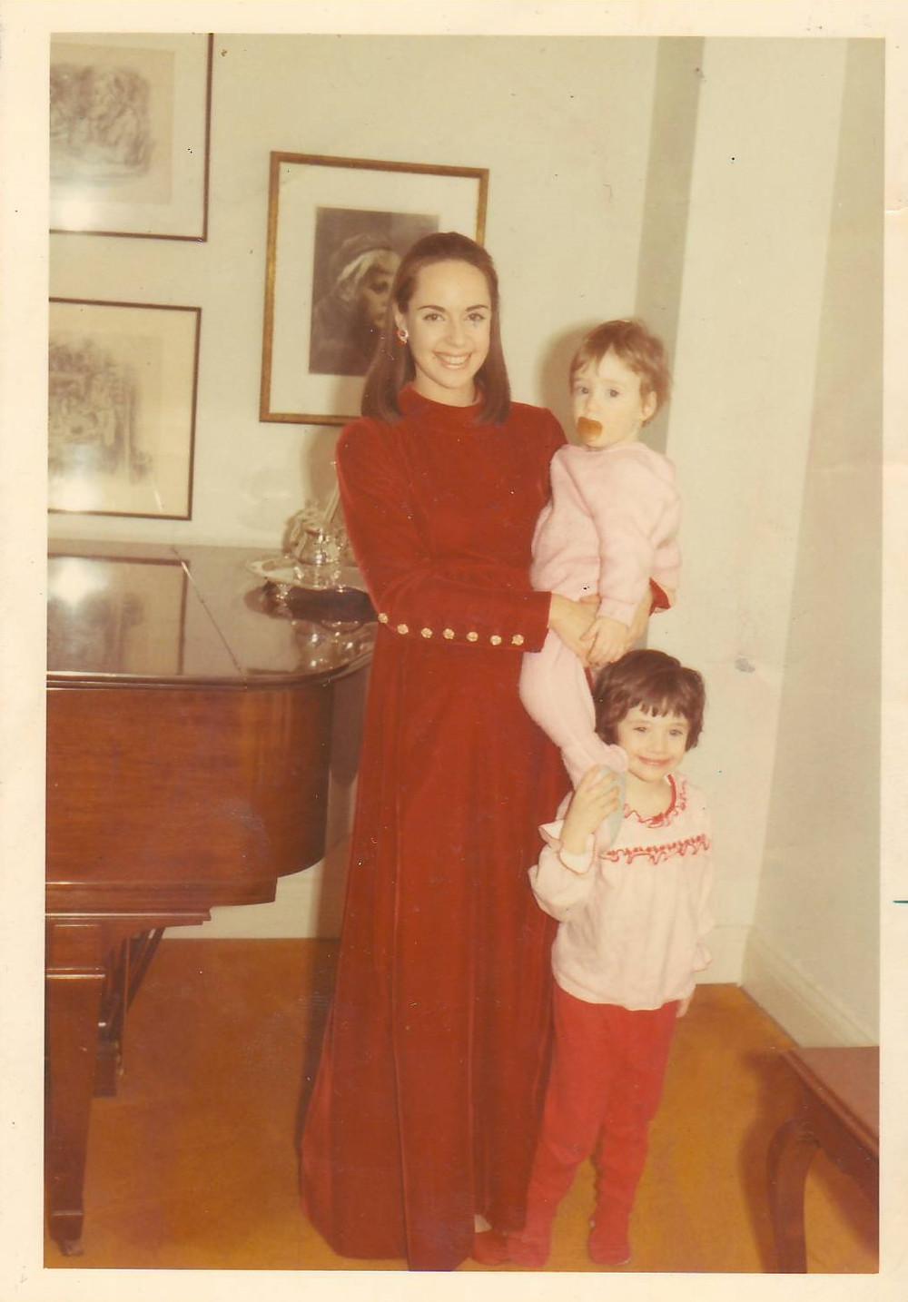 Mom, me and Ellice, vintage Harold Levine Dress, Amy Stein-Milford