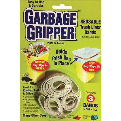 Garbage Gripper 3 Pack (2 Small and 1 Large Band)